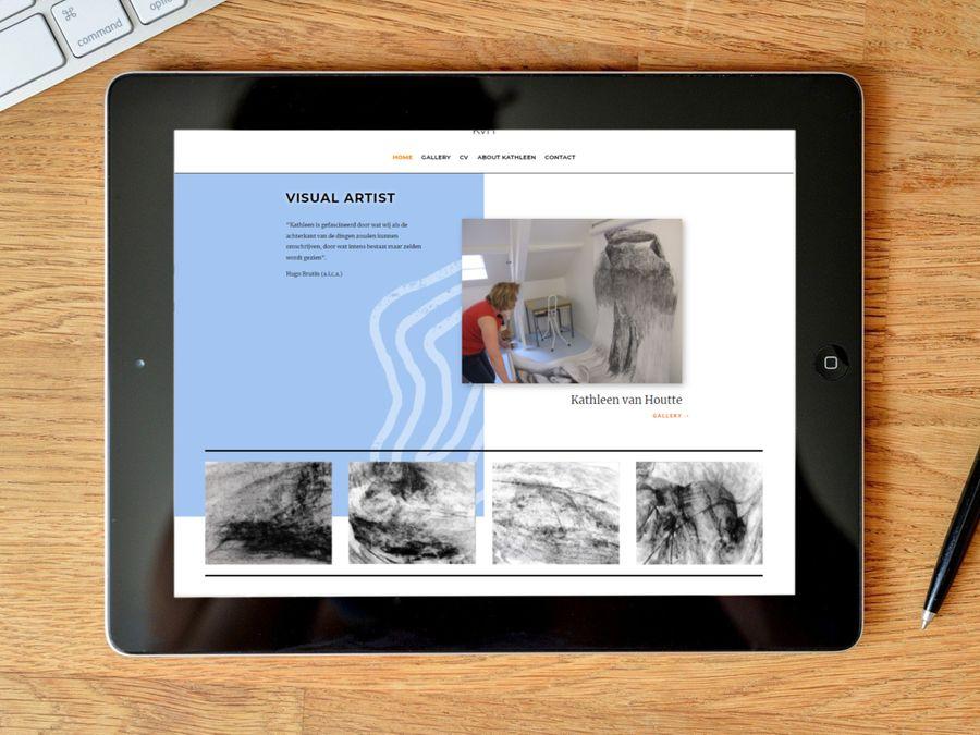 Website voor kunstenares Kathleen van Houtte