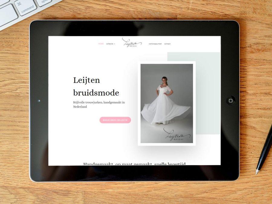 Website voor Leijten Bruidsmode