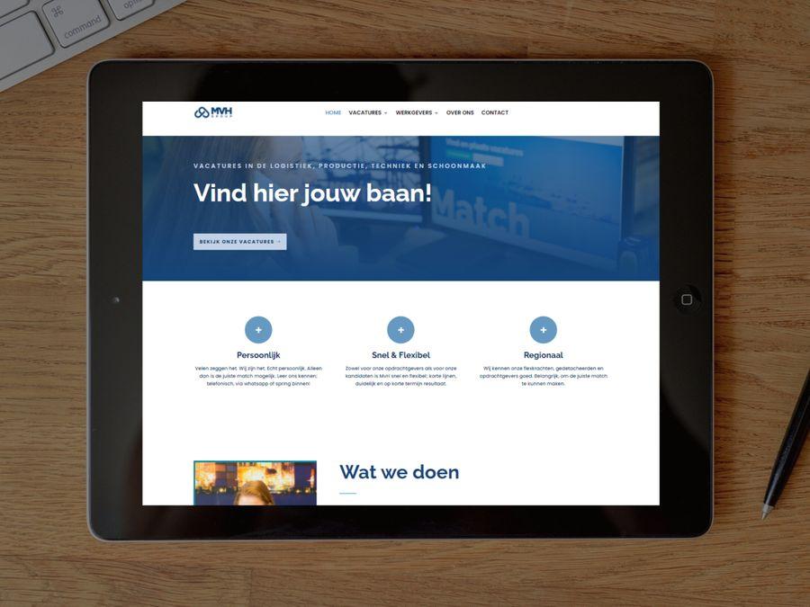 Vacature website voor MVH-Group