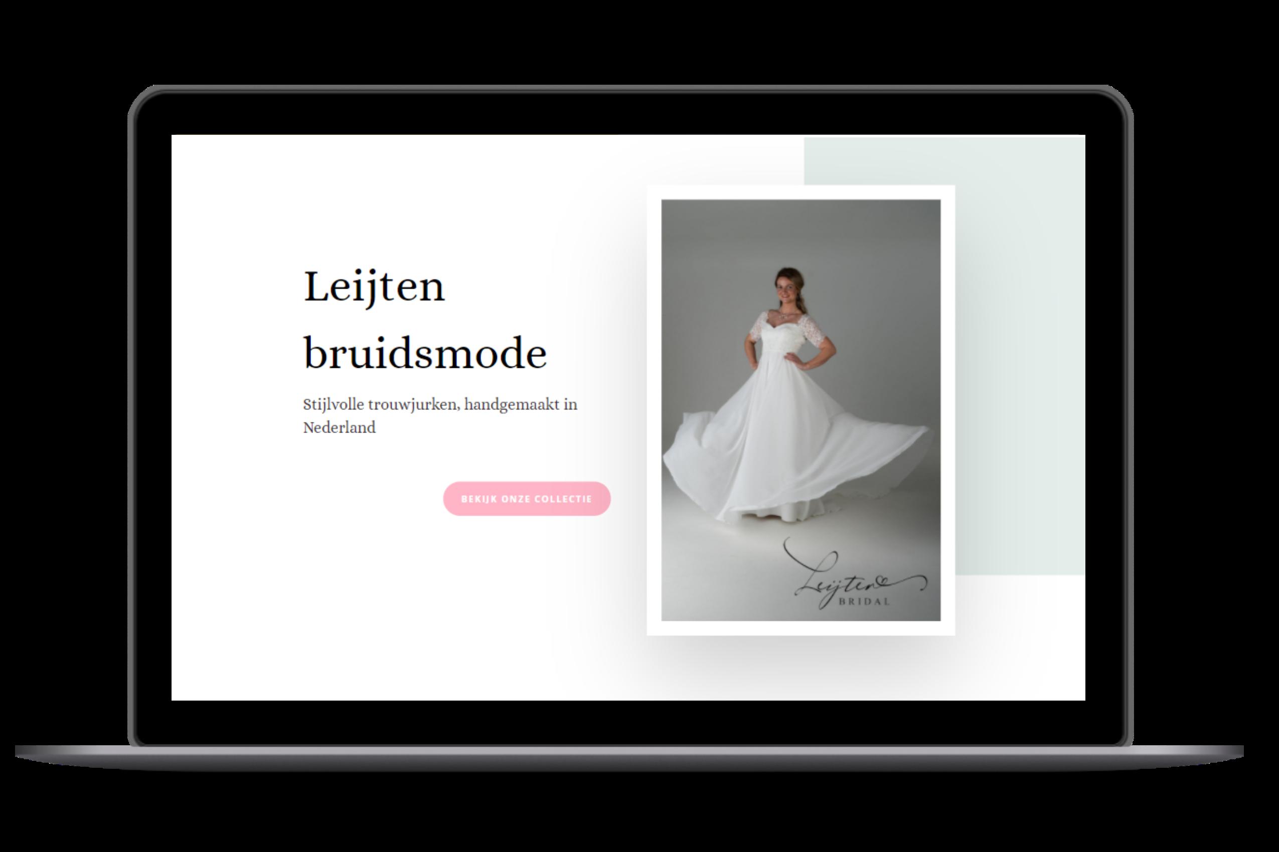 wordpress website desktop leijten bruidsmode