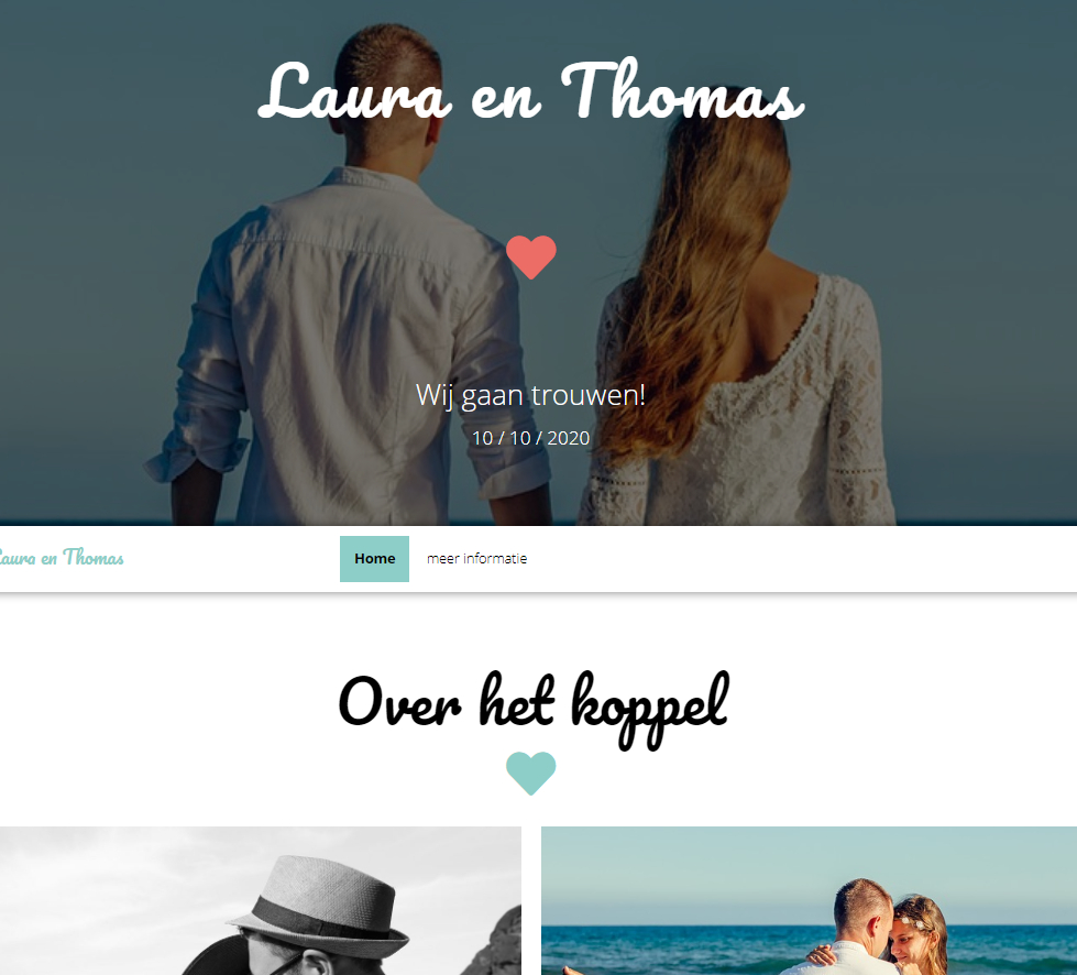 Bruiloftsite Laura en Thomas