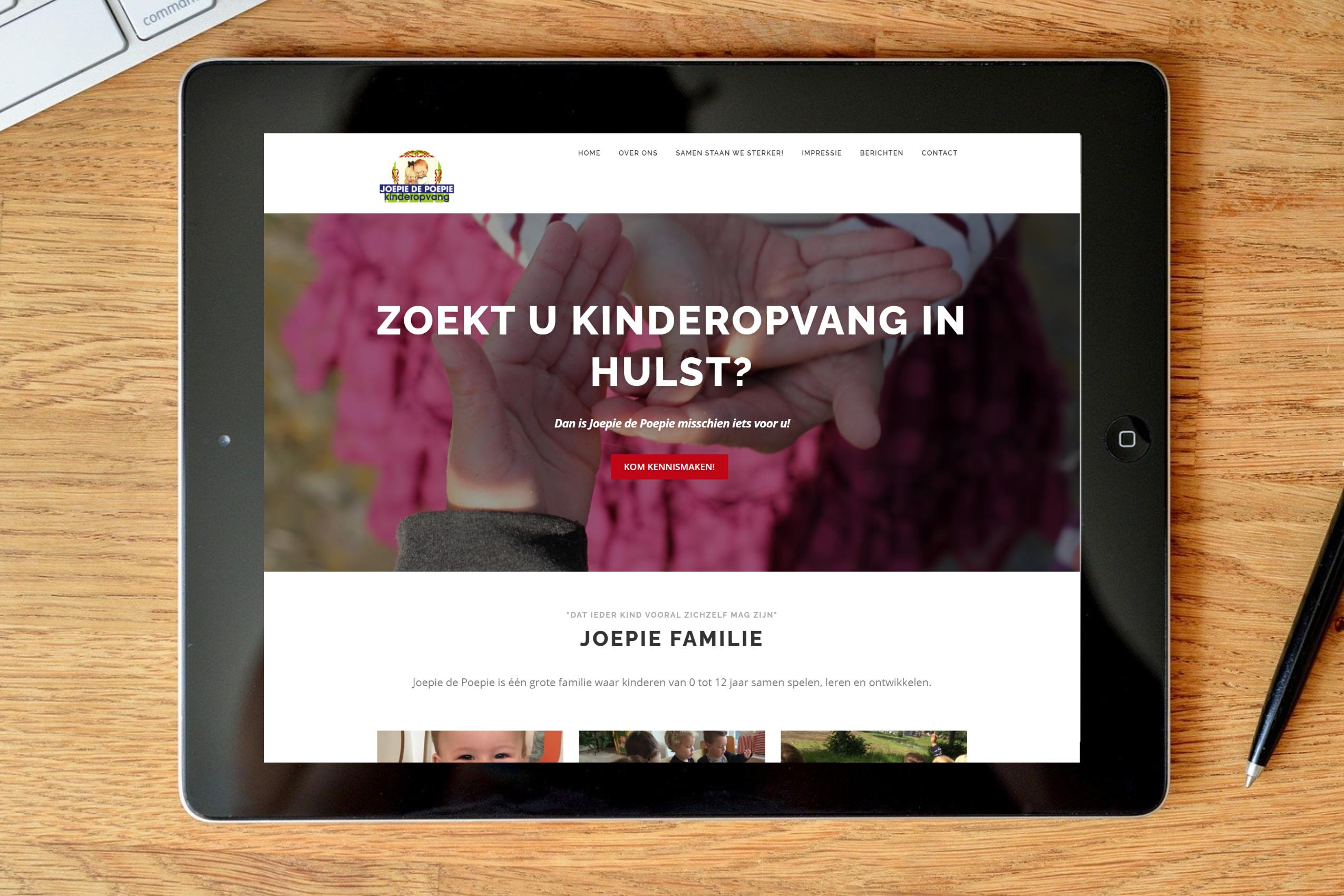 Kinderopvang Joepie de Poepie website portfolio